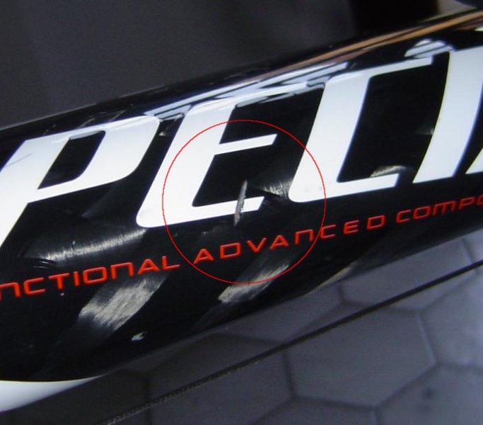 Large scratches on carbon frame - BikeRadar Forum